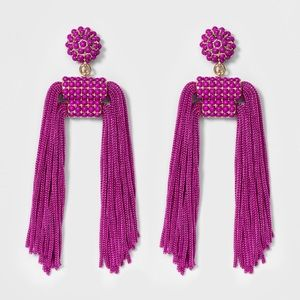 BaubBar Mixed Media Tassel Earrings